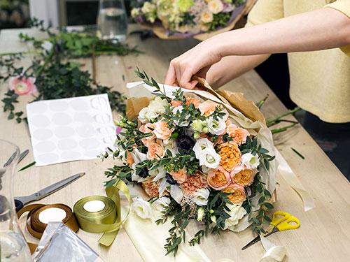 Emballage de bouquets